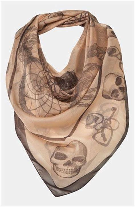 Topshops Skull Scarf Slouch Bag topshop catcher skull scarf nordstrom fashion