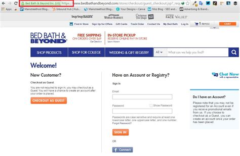 bed bath beyond website what in the world is ssl and does my website need it mainstreethost