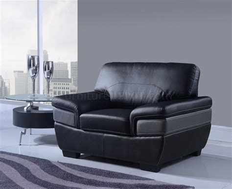 U7230 Sofa In Black Grey Bonded Leather By Global W Options Black And Grey Leather Sofa