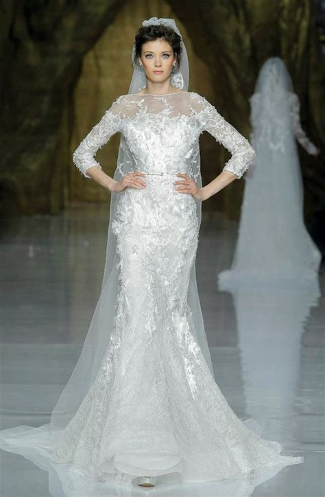 elie saab wedding dress 2014 pronovias bridal 2 onewed com