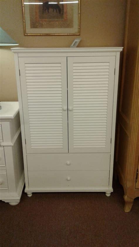 louvered armoire small white louvered armoire delmarva furniture consignment
