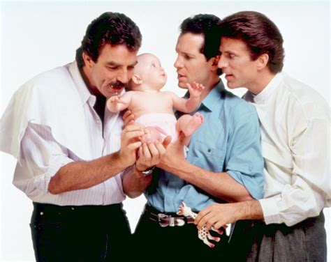 three men in a three men and a baby www imgkid com the image kid has it