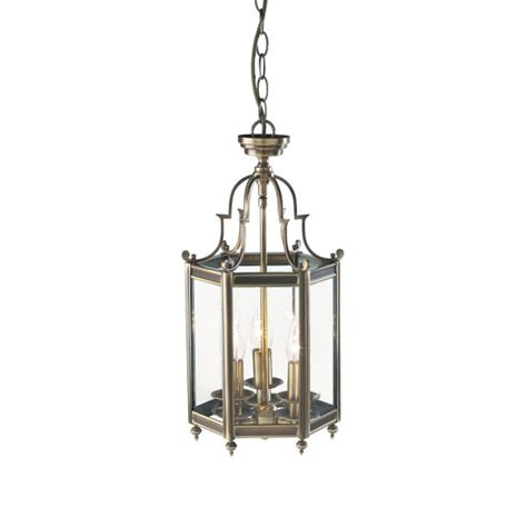 Brass Ceiling Lantern by Moorgate Lantern Moo0375 Traditional Antique Brass Lantern