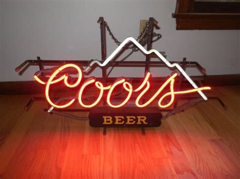 vintage coors light neon sign vintage coors lighted sign shop collectibles daily