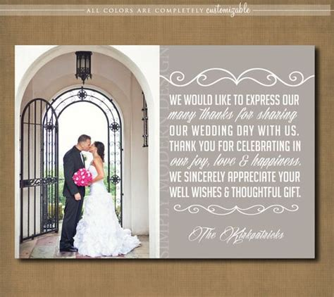 thank you letter after a wedding wedding thank you cards wedding thank you and thank you