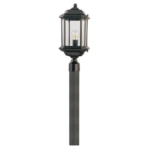 Seagull Outdoor Lighting Sea Gull Lighting Kent 1 Light Black Outdoor Post Top 82029 12 The Home Depot