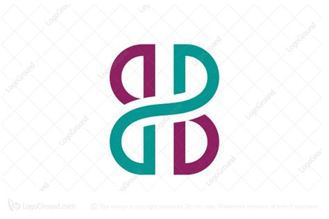 b b connected letter b b logo