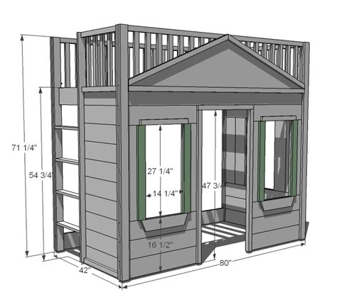Bunk Bed Building Plans Plans For Built In Loft Bed 187 Plansdownload