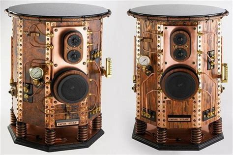 steam style empire steunk style speakers extravaganzi