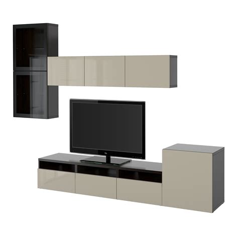 ikea besta best 197 tv storage combination glass doors