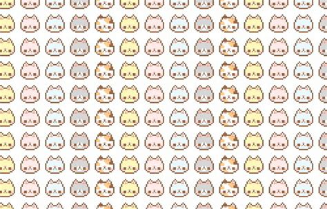 kitten pattern background art background cat cute kawaii kitty pattern pixel
