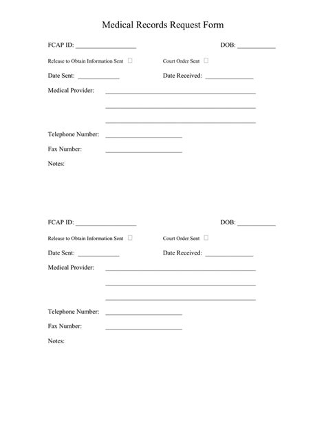 request for release of records template records request form in word and pdf formats