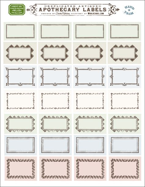 Ornate Apothecary Blank Labels By Cathe Holden Worldlabel Blog Blank Mailing Label Template