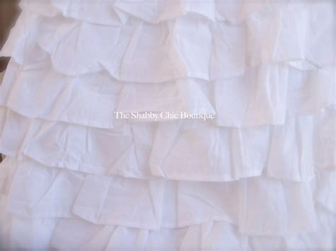 Shabby Chic Bed Skirt petticoat tiered king bed valance bedskirt shabby white