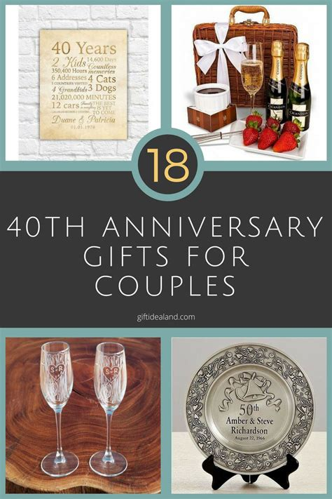 Wedding Anniversary Gifts For Couples by 40th Wedding Anniversary Gifts For Couples Mini Bridal