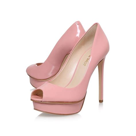 nine west edlyn high heel court shoes in pink lyst