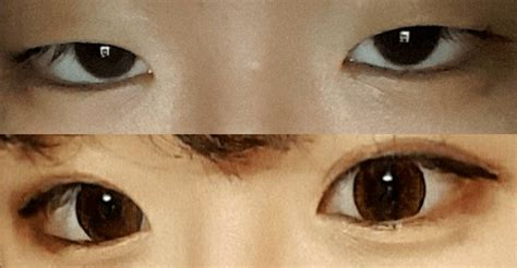 double eyelid korean girl demonstrates how a little make up can make a