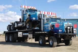 bed trucks road oilfield hauling