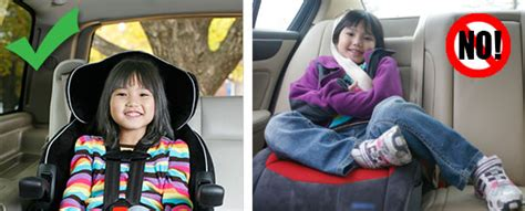 can child ride in front seat with booster 187 child passenger safety week