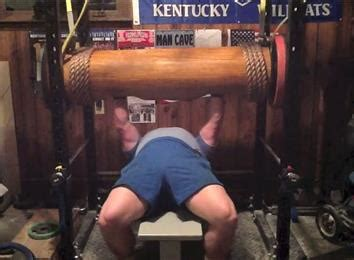 world s heaviest bench press heaviest wooden log bench press world record clint poore