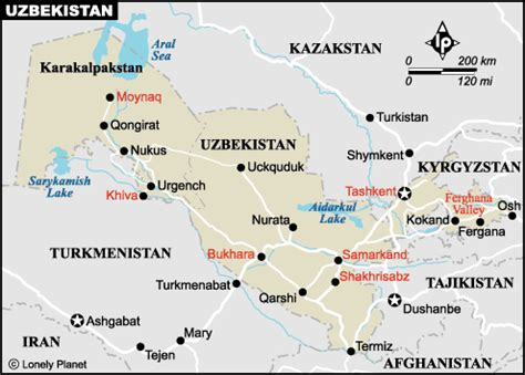 usbekistan regionen karte usbekistan