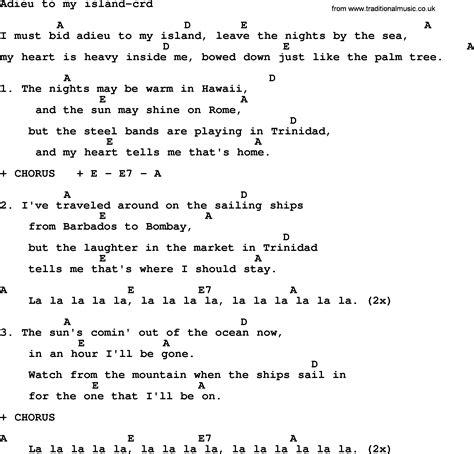 ukulele tutorial island in the sun kingston trio song adieu to my island lyrics and chords