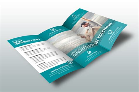 indesign brochure template school on behance