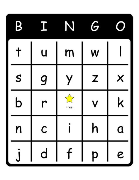 free printable card templates alphabet 7 best images of free printable alphabet bingo cards
