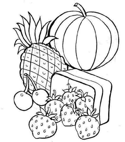 Food Coloring Pages Coloring Ville Colouring In Pages