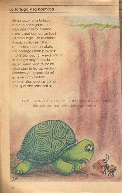 libro yoruga la tortuga y libros de primaria de los 80 s la tortuga y la hormiga espa 241 ol lecturas 3er grado