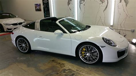 porsche targa 2017 white 2017 porsche targa 4s ceramic pro by advanced detailing