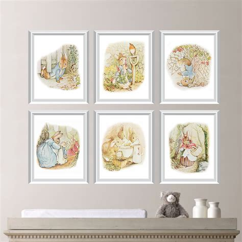 Beatrix Potter Nursery Decor with Baby Nursery Print Rabbit Nursery Decor