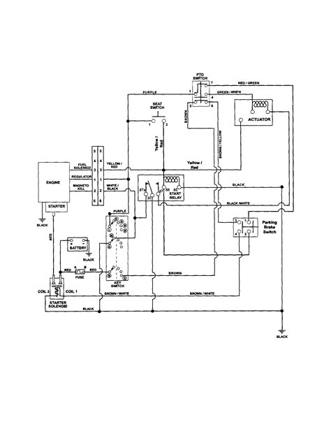 yardman mower wiring diagram schematic yardman