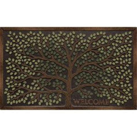 Door Mats Home Depot by Apache Mills Tree Welcome 22 In X 36 In Recycled Rubber
