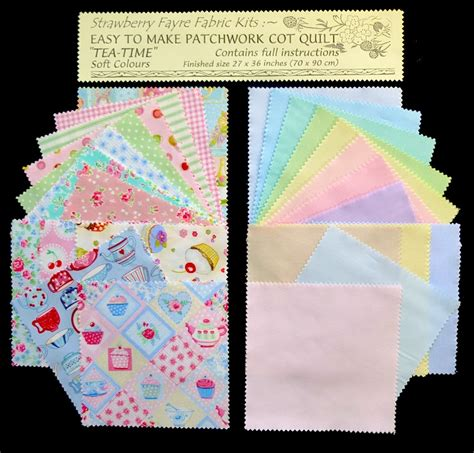 Patchwork Cot Quilt Kits - quilt kits quilts for sale strawberry fayre fabrics