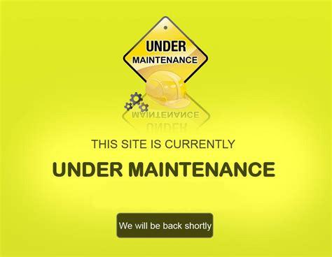 website under maintenance html template download