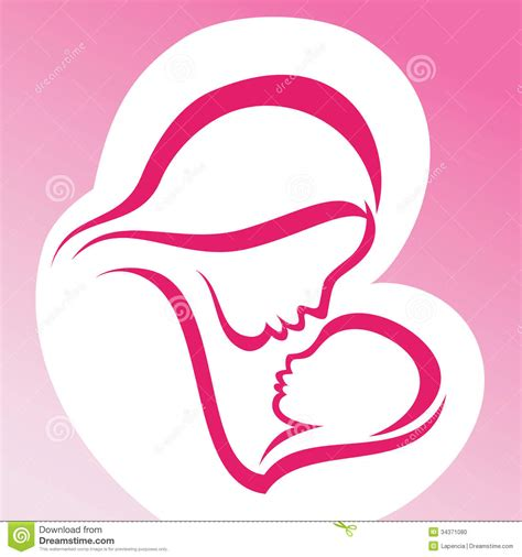 mother and baby clipart clipartxtras