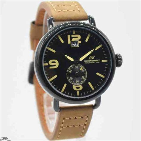 Chronoforce Black jual jam tangan pria chronoforce 5218 2mb black leather