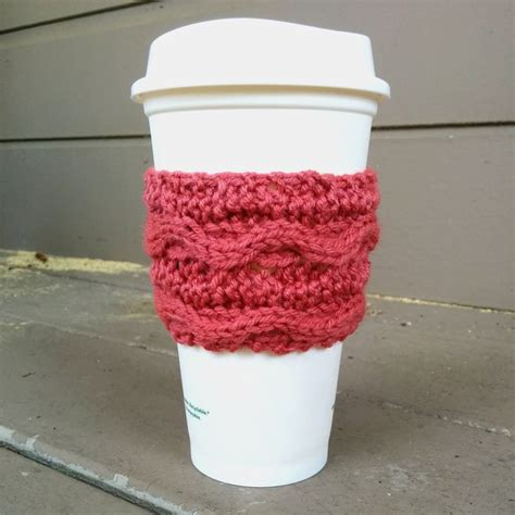 free knitting pattern coffee cup sleeve 26 best images about cup cozy on cup