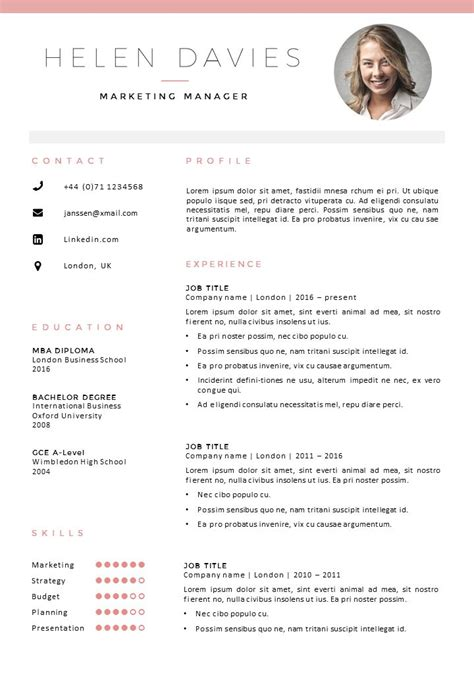 curriculum template best 25 template cv ideas on curriculum