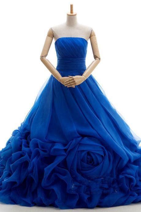 Gaun Dress Blue Flower M Import Original prom dress prom dresses prom dress dresses spaghetti straps prom