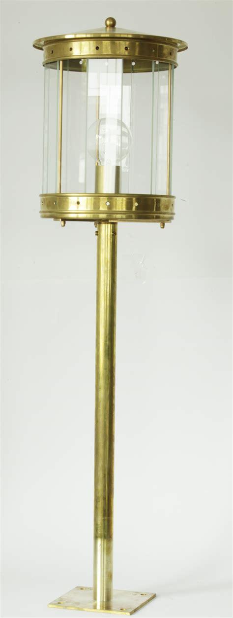 Outdoor Pedestal Light In Brass Terra Lumi Outdoor Pedestal Lights