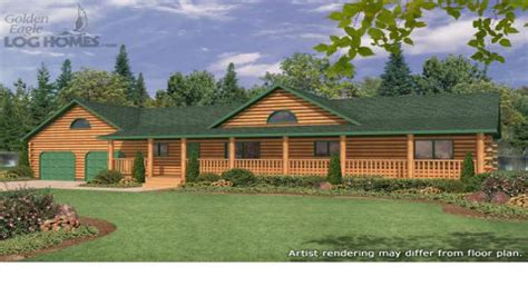ranch style house plans with porch ranch style log home plans ranch style log homes with wrap