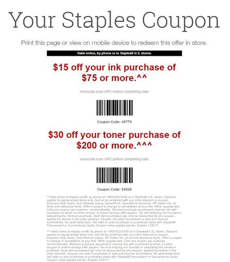 staples office furniture coupon staples coupon 15 75 ink 30 200 toner