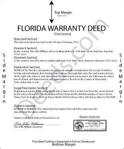florida warranty deed forms deedscom