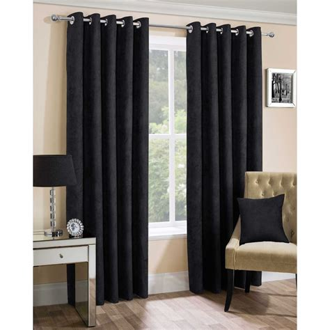 faux suede blackout curtains faux suede black ready made eyelet curtains closs hamblin
