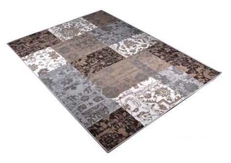 teppich grau braun velours design teppich paradise patchwork grau schwarz