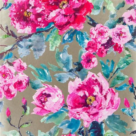 wallpaper design guild shanghai garden fuchsia wallpaper designers guild