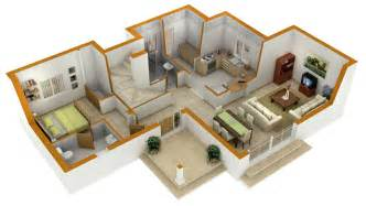 Cottage Floor Plans 25 more 3 bedroom 3d floor plans