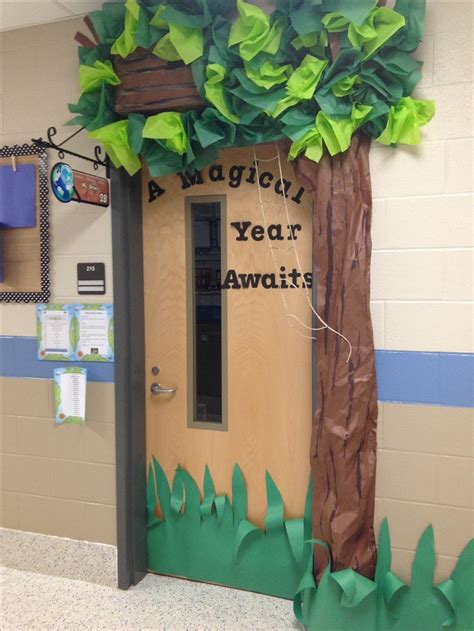themes in story of the door magic treehouse themed classroom door class door ideas